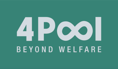 Apoio da 4 Pool. BEYOND WELFARE.